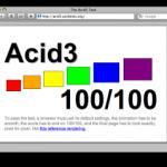 Webkit ya supera el Acid test 3